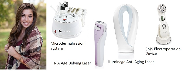 Anti aging laser and EMS systems
