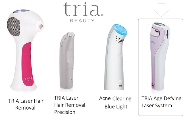 TRIA beauty age defying laser system and hair removal